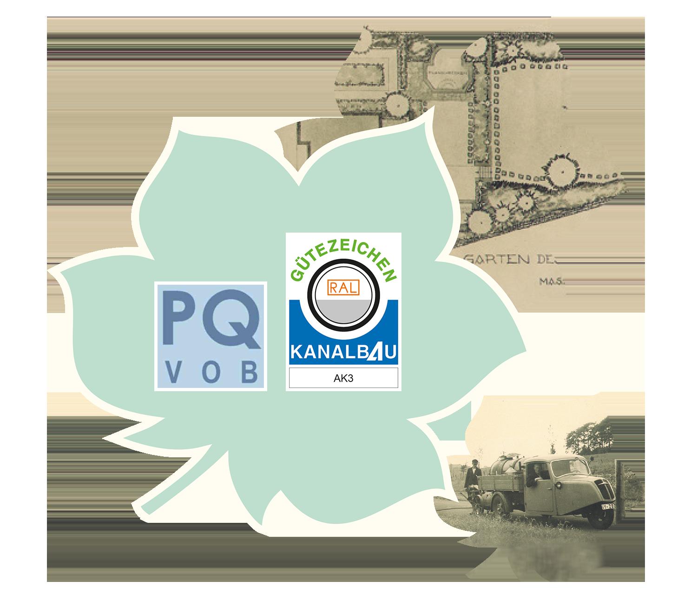 PQ und Gütezeichen Kanalbau AK3